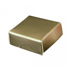 Ask med lock 30x30x15 mm guld (100-pack)