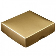 Ask med lock 60x60x20 mm guld (100-pack)