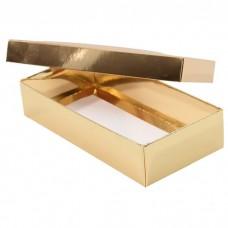 Sober ask och lock 159x78x32 mm guld (100-pack)