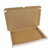 Brevpack 305x215x27mm vit/brun (100-pack)