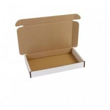 Brevpack 200x125x27mm vit/brun (100-pack)