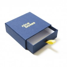 Smyckesask Drawer Box 71x71x28 mm marinblå