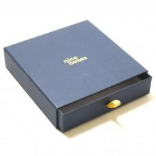 Smyckesask Drawer Box 158x158x33 mm marinblå
