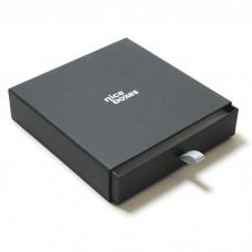 Smyckesask Drawer Box 158x158x33 mm svart
