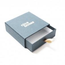 Smyckesask Drawer Box 71x71x28 mm grå
