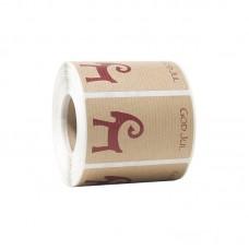 Etikett julbock 80x44 mm natur (500-pack)