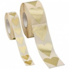 Hjärtan guld 28x20 mm (1000-pack) - Etiketter standard - Pris 46.00 - Artikelnummer L389501