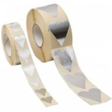 Hjärtan silver 28x20 mm (1000-pack)