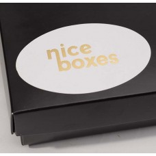 Folietryckta etiketter vit botten - Form & Storlek:
