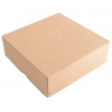 Ask med lock hörnnitad naturbrun 80x80x40 mm