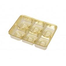 Insats 112x82x20 mm 6 pr guld (25-pack)