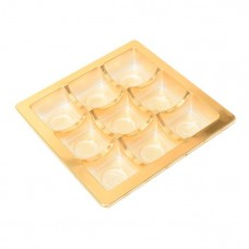 Insats 125x125x20 mm  9 pr guld (25-pack)