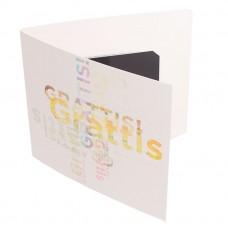 Presentkortsfolder standard Grafitti 140x125 mm (100-pack)