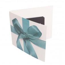 Presentkortsfolder standard rosett 140x125 mm (100-pack)