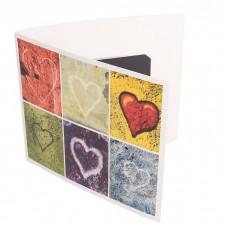Presentkortsfolder standard Hjärtan 140x125 mm (100-pack)