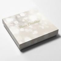 Askar med julmotiv till presentkort