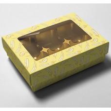 Ask med lock påskfjädrar fönster 112x82x32/20 mm (100-pack)