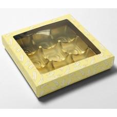 Ask med lock påskfjädrar fönster 125x125x25/20 mm (100-pack)