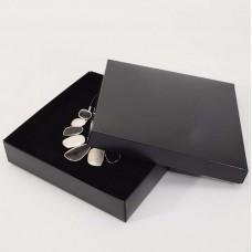 Smyckesask Sober 160x160x32 mm svart (100-pack)