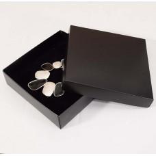 Smyckesask Sober  125x125x32 mm svart (100-pack)