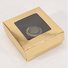 Smyckesask Sober fönster 78x82x32 mm guld (100-pack)