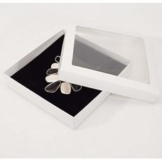 Smyckesask Sober fönster 160x160x32 mm vit (100-pack)
