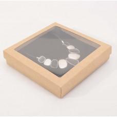 Smyckesask Sober fönster 160x160x25 mm natur (100-pack)