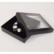Smyckesask Sober fönster 160x160x32 mm svart (100-pack)