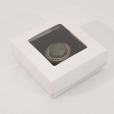 Smyckesask Sober fönster 78x82x32 mm vit (100-pack)