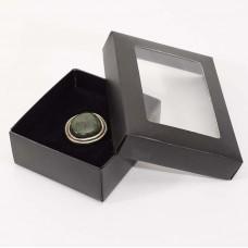 Smyckesask Sober 78x82x32 mm svart (100-pack)