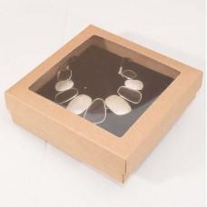 Smyckesaska Sober fönster 125x125x32mm natur (100-pack)